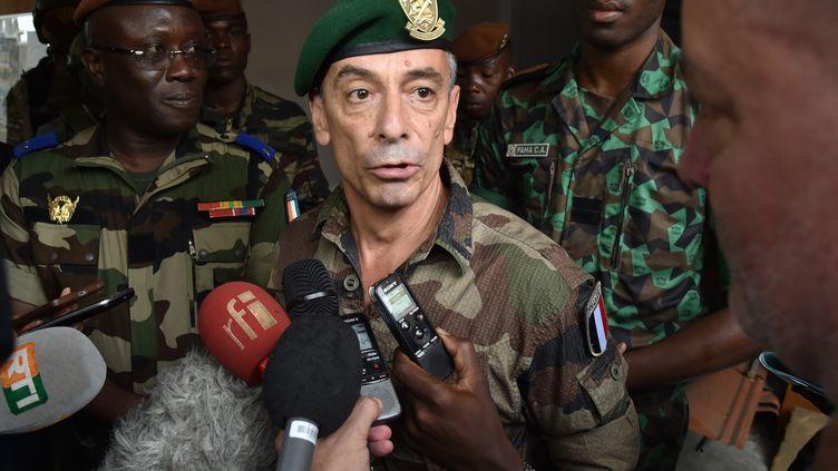 Le vice-amiral Laurent Isnard, chef du commandement des opérations spéciales, le 22 septembre 2017 à Abidjan (Côte d'Ivoire). (ISSOUF SANOGO / AFP)