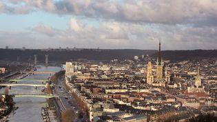 La ville de Rouen (Seine-Maritime), le 3 décembre 2020. (MANUEL COHEN / AFP)