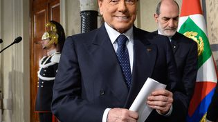 Silvio Berlusconi, à Rome, la capitale italienne, le 5 avril 2018. (SILVIA LORE / NURPHOTO / AFP)