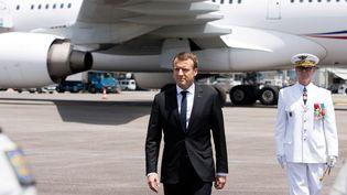 Emmanuel Macron, le 26 octobre 2017, à Cayenne (Guyane). (RONAN LIETAR / REUTERS)