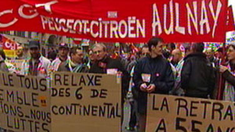 Manifestation de salariés du secteur automobile, jeudi 17 septembre à Paris (© France 2)