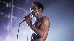 Fela Kuti en concert à Paris, à l'espace Balard en 1983  (Goudeneiche / Sipa)