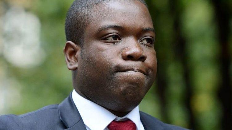 Kweku Adoboli se rendant à son procès le 20 septembre 2012, à Londres (Grande-Bretagne). (BEN STANSALL / AFP)