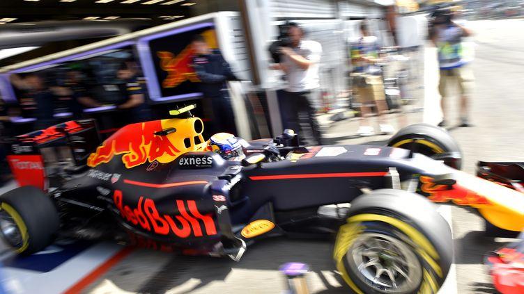 Le jeune pilote Red Bull Max Verstappen (18 ans) a effectué des manœuvres dangereuses à Spa le week-end dernier.  (LOIC VENANCE / AFP)