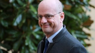 Le ministre de l'Education nationale, Jean-Michel Blanquer, arrive à l'Elysée le 26 février 2020. (LUDOVIC MARIN / AFP)