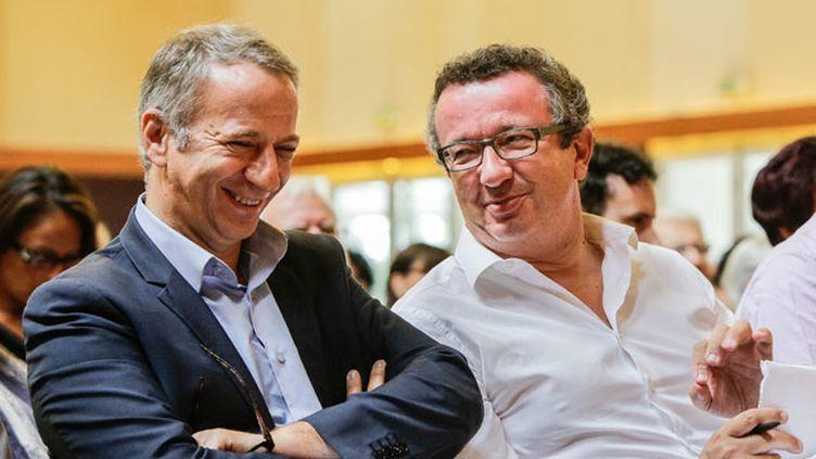 """(Les députés PS """"frondeurs"""" Laurent Baumel et Christian Paul  © MaxPPP)"""