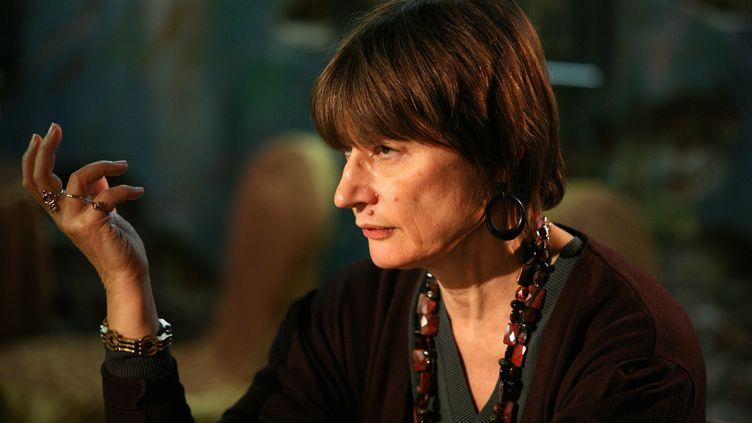 Catherine Millet en promotion pour son livre Dalí et moi, à Moscou, le 30 novembre 2008. (MAXPPP)
