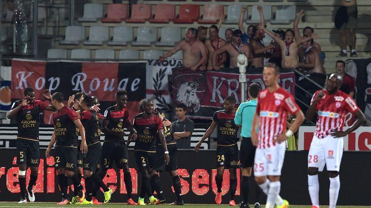 L'En Avant Guingamp cartonne depuis le début de la saison (PATRICK HERTZOG / AFP)