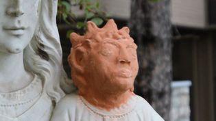 La tête du Christ de l'église Sainte-Anne-des-Pins, à Sudbury (Ontario, Canada). (CBC TV CANADIENNE)