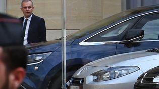 François de Rugy, ministre de la Transition écologique et solidaire, dans la cour de Matignon, le 11 juillet 2019. (DOMINIQUE FAGET / AFP)