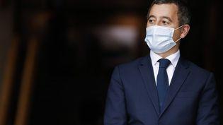 Le ministre de l'Intérieur, Gérald Darmanin, à la préfecture de Bobigny (Seine-Saint-Denis), le 20 octobre 2020. (LUDOVIC MARIN / POOL / AFP)