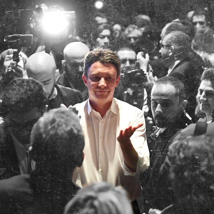 Benjamin Griveaux, candidat LREM à la mairie de Paris, le 27 janvier 2020 lors d'un meeting de campagneau théâtre Bobino. (MARTIN BUREAU / AFP / BAPTISTE BOYER ET PIERRE-ALBERT JOSSERAND / FRANCEINFO)