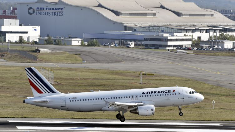Un avion d'Air France atterrit à l'aéroport de Toulouse Blagnac le 29 septembre 2014. (PASCAL PAVANI / AFP)
