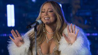 La chanteuse Mariah Carey à New-York (Etats-Unis), le 31 décembre 2017. (DON EMMERT / AFP)