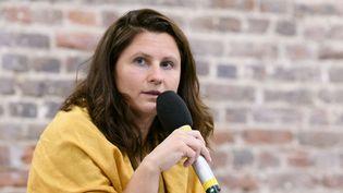 La ministre déléguée en charge des Sports, Roxana Maracineanu, s'exprime lors d'une conférence de presse, le 5 octobre 2020, à Paris. (JACQUES WITT/SIPA)