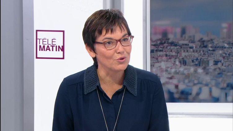 Annick Girardin, ministre des Outre-mer, sur France 2, le 8 novembre 2017. (FRANCE 2)