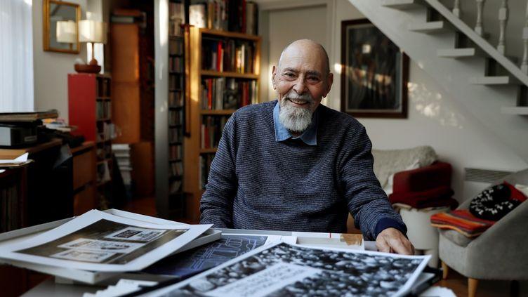 Le photographe Gérald Bloncourt en 2016  (Thomas SAMSON / AFP)