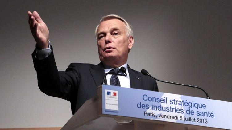 Jean-Marc Ayrault lors du Conseil stratégique des industries de santé, le 5 juillet 2013 à Paris. (JACQUES DEMARTHON / AFP)