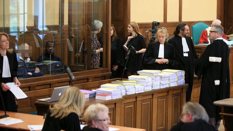 A l'ouverture du procès de Francis Heaulme devant la cour d'assises de la Moselle, à Metz, le 25 avril 2017. (MAXPPP)