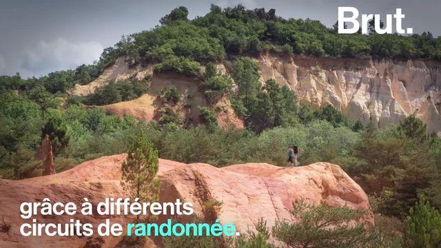 Visiter le Colorado en France, c'est possible. Voici les magnifiques falaises colorées de Rustrel, en Provence-Alpes-Côtes d'Azur.