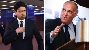 Nasser Al-Khelaïfi et Javier Tebas sont une nouvelle fois opposés. (AFP)