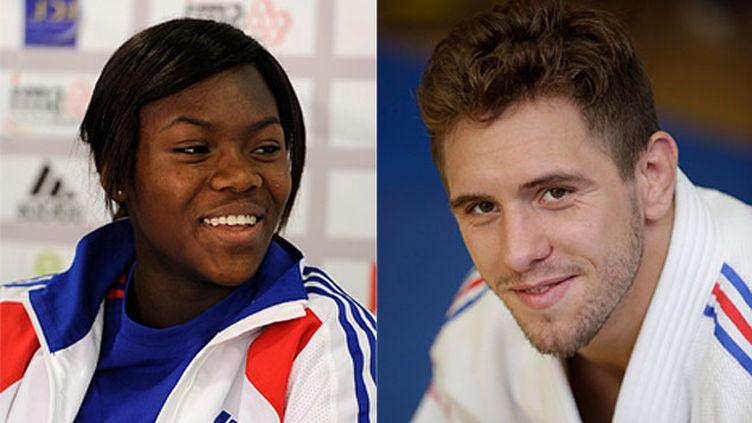 (Clarisse Agbegnenou et Loïc Pietri, médailles d'argent au mondiaux de judo d'Astana © Reuters / MaxPPP)