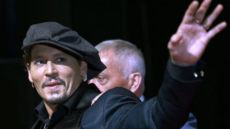 Johnny Depp à Tokyo (Japon), le 20 juin 2017. (SHIZUO KAMBAYASHI / SIPA)
