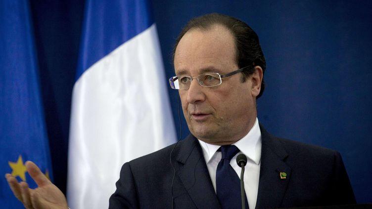 François Hollande à Ramallah (Palestine), lundi 18 novembre 2013. (NASSER NASSER/AP/SIPA / AP)