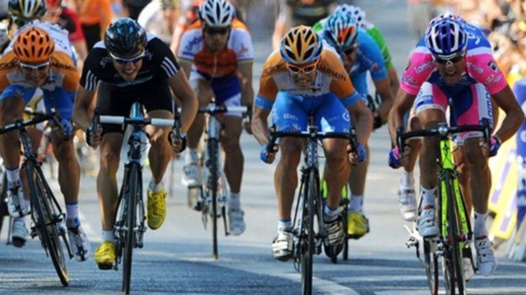 Arrivée au sprint sur le Tour de France 2010