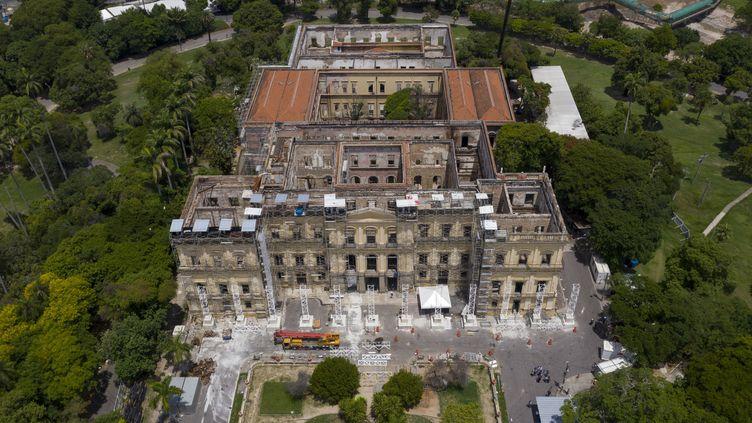 Le musée national de Rio, vue aérienne, février 2019  (MAURO PIMENTEL / AFP)