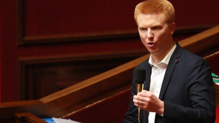 Le député LFI du Nord Adrien Quatennens à l'Assemblée nationale, le 24 février 2020. (LUDOVIC MARIN / AFP)