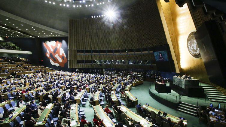 L'assemblée générale de l'ONU est réunie à New-York, aux Etats-Unis, le 21 décembre 2017. (EDUARDO MUNOZ ALVAREZ / AFP)