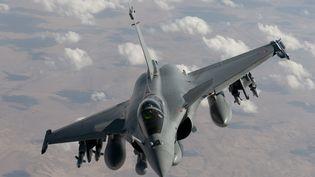 Un avion Rafale en mission de reconnaissance en Irak, le 17 octobre 2014. (ARMEE DE L'AIR / AFP)