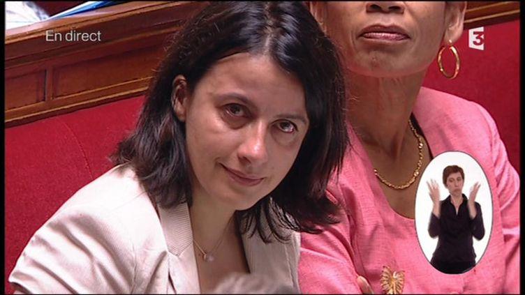 La ministre Cécile Duflot lors des questions au gouvernement, le 16 juillet 2013. (FRANCE 3)