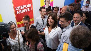 Michèle Rubirola au temps de l'union et de la victoire aux élections municipales, à Marseille le 28 juin 2020 (CLEMENT MAHOUDEAU / AFP)