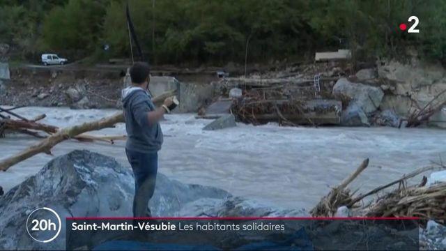 Saint-Martin-Vésubie : la solidarité s'organise entre les habitants