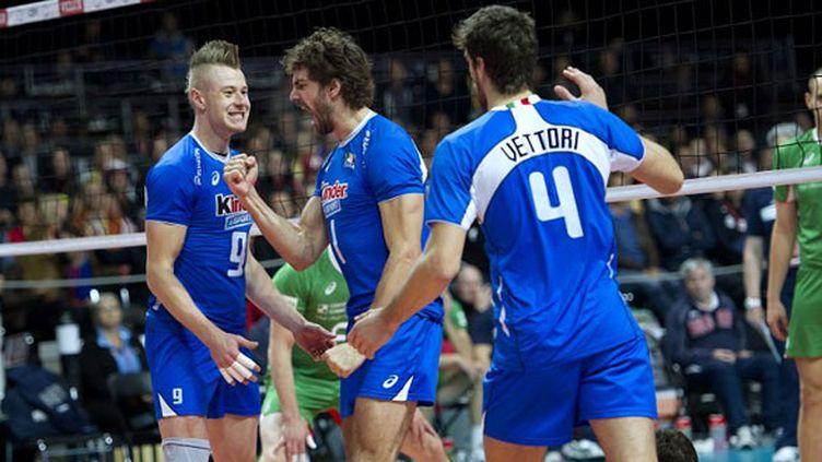 La joie des volleyeurs italiens