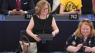 Nathalie Loiseau au Parlement européen, le 2 juillet. (FREDERICK FLORIN / AFP)