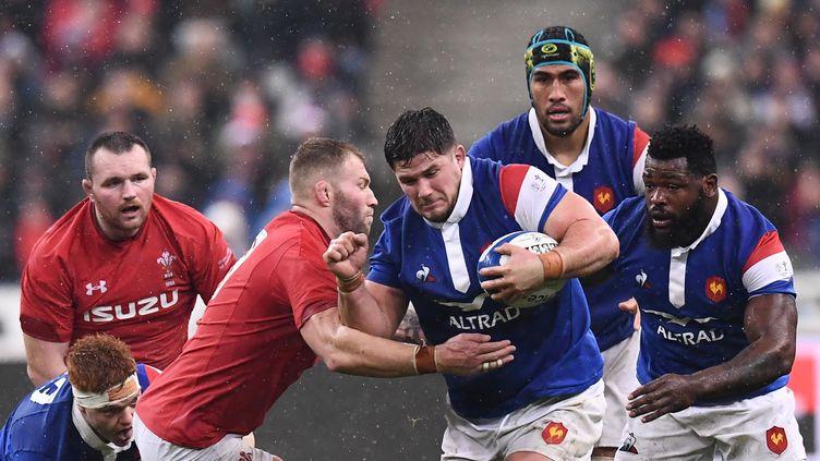 Le XV de France et le pays de Galles, le 1er février 2019. (FRANCK FIFE / AFP)