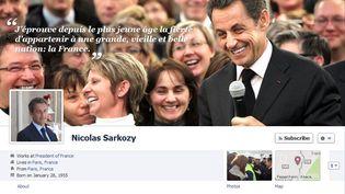 Capture d'écran du profil Facebook de Nicolas Sarkozy. (FTVi)
