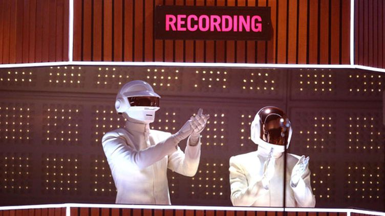Daft Punk sur scène aux Grammy Awards 2014  (Matt Sayles/AP/SIPA)