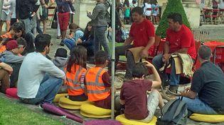 Quelque part dans le «village archéologique» parisien le 16 juin 2017...  (France Télévisions - Laurent Ribadeau Dumas)