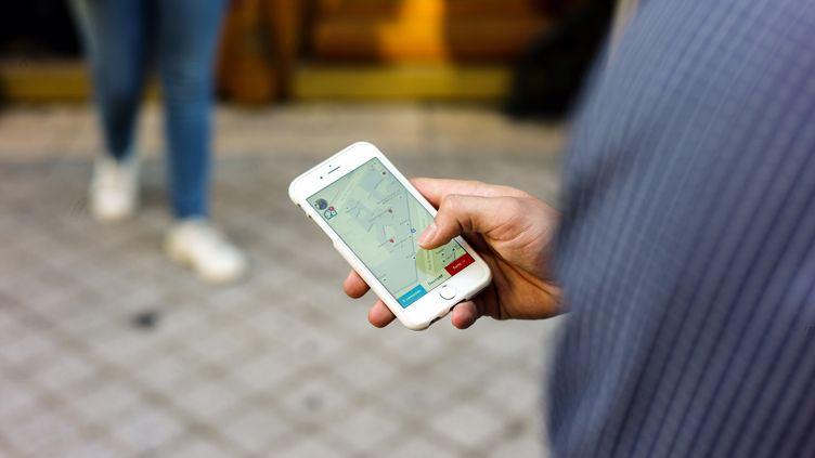 L'applicationKnockin, utilisée par leséquipes de campagne de Nicolas Sarkozy. (RADIO FRANCE / MATTHIEU MONDOLONI)