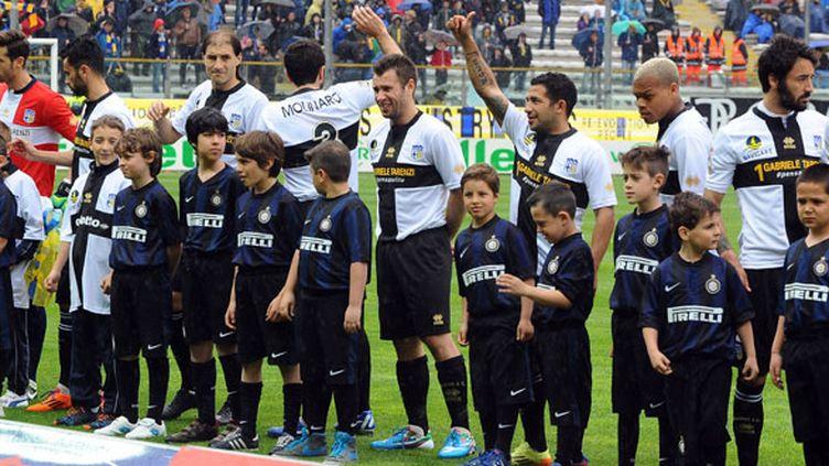 Les joueurs de Parme lors de la réception de l'Inter Milan