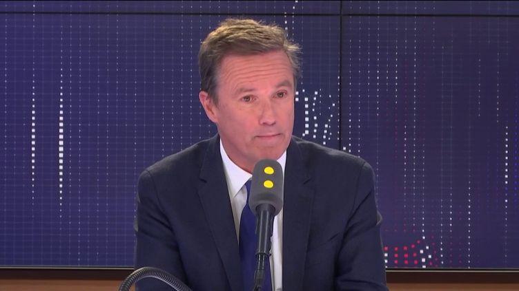 Nicolas Dupont-Aignan, président de Debout La France, le 15 avril 2019. (FRANCEINFO / RADIO FRANCE)