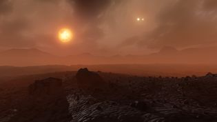 Vue d'artiste de l'exoplanète Proxima Centauri b. (MARK GARLICK/SCIENCE PHOTO LIBRA / MGA / AFP)