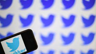 Un smartphone connecté au réseau social Twitter, le 6 mai 2019, à Nantes (Loire-Atlantique). (LOIC VENANCE / AFP)