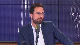 Mounir Mahjoubi, candidat LREM dans le 19e arrondissement de Paris. (FRANCEINFO)