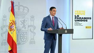 Le Premier ministre espagnol, Pedro Sanchez, le 10 juillet 2021 à Madrid. (BORJA PUIG DE LA BELLACASA / LA MONCLOA / AFP)