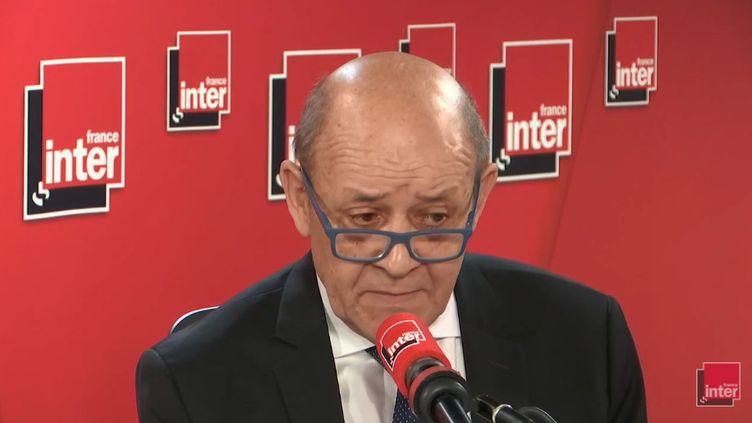 Leministre des Affaires étrangères Jean-Yves Le Drian, le 4 février 2019. (RADIO FRANCE / FRANCE INTER)